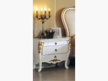 [全新] 艾麗絲法式象牙白金邊床頭櫃床頭櫃全新