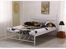 [全新] 丹尼白色5尺雙人鐵床雙人床架全新