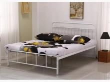 [全新] 卡爾白色5尺雙人鐵床雙人床架全新