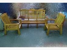 [全新] 樂居二手全新1+1+3 木沙發椅木製沙發全新