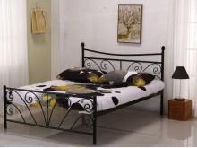 [全新] 丹尼黑色5尺雙人鐵床雙人床架全新