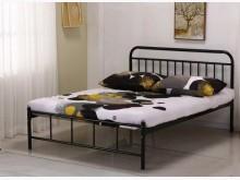 [全新] 卡爾黑色5尺雙人鐵床雙人床架全新