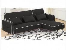 [全新] 艾曼達黑皮L型沙發-左右向L型沙發全新