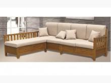 [全新] 威廉柚木色L型實木沙發-左右向木製沙發全新