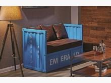 [全新] 查克藍色貨櫃雙人沙發雙人沙發全新