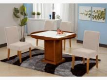 801442-1馬吉方型垂桌餐桌全新