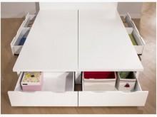 [全新] 白色5呎六抽床底特價8800雙人床架全新