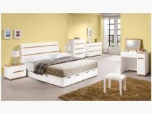 [全新] 露西木紋白5尺床片特價$4600雙人床架全新