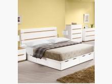 [全新] 露西木紋白六抽床底特價$9800雙人床架全新