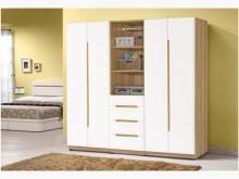 [全新] 露西木紋白三件組合衣櫃28400衣櫃/衣櫥全新