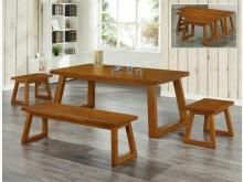 [全新] 卡爾森實木6尺餐桌餐桌全新