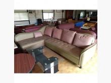 [8成新] 半牛皮沙發(清倉大降價)L型沙發有輕微破損