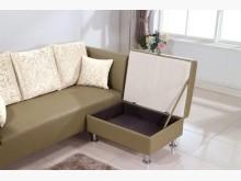 [全新] 艾寶收納型卡其色皮腳椅$3900單人沙發全新