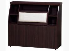 [全新] 胡桃3.5尺浮雕皮床頭$3500單人床架全新