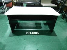 0904006.白(木紋)色電桌電腦桌/椅有輕微破損