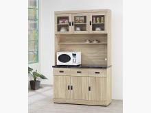[全新] 原切橡木色4尺餐櫃含石13500碗盤櫥櫃全新