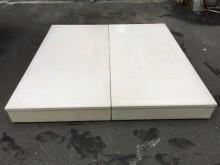 非凡 烤白 雙人6尺床箱雙人床架無破損有使用痕跡