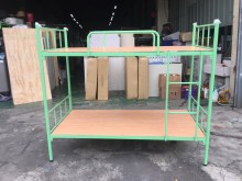 非凡 全新馬卡龍綠3尺雙層鐵床單人床架全新