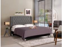 [全新] 多娜達5尺灰色布雙人床雙人床架全新