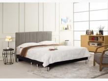 [全新] 多琳6尺灰色皮雙人床雙人床架全新