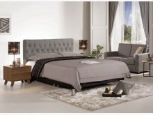 [全新] 埃利安6尺灰色布雙人床雙人床架全新