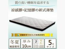 [全新] 複合式記憶涼感雙人薄墊**有展示雙人床墊全新
