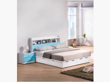 [全新] 粉藍童話雙色5尺床頭箱6600雙人床架全新