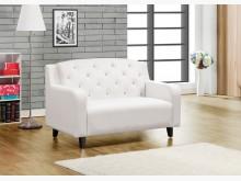 [全新] 日向白色二人皮沙發雙人沙發全新