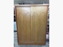 非凡二手家具柚木5x7雙推門衣櫃衣櫃/衣櫥無破損有使用痕跡