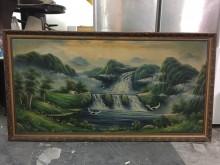 非凡二手家具 風景油畫收藏擺飾無破損有使用痕跡