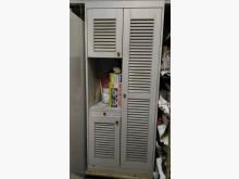 [8成新] 連欣二手傢俱-開門百葉收納櫃灰收納櫃有輕微破損