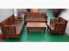 [全新] P1215全新柚木123沙發茶几木製沙發全新