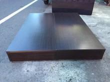 非凡二手 胡桃色標準雙人5尺床箱雙人床架無破損有使用痕跡