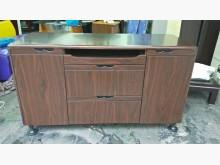 非凡 胡桃仿實木4尺主管桌側櫃辦公櫥櫃無破損有使用痕跡
