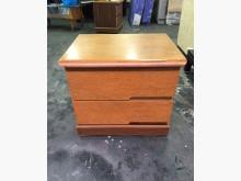 非凡二手家具 柚木兩抽床邊櫃床頭櫃無破損有使用痕跡