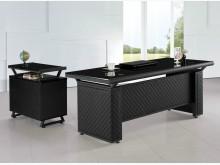 [全新] 時尚傢俱-B全新}皮製6尺L型桌辦公桌全新