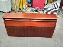 非凡二手柚木色雙人5尺收納床頭箱床頭櫃無破損有使用痕跡
