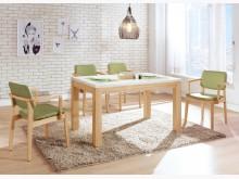 [全新] 喬伊原木色石面餐桌餐桌全新