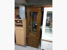 [全新] 樣品屋全新實木櫥櫃內有2片玻璃高低櫃全新