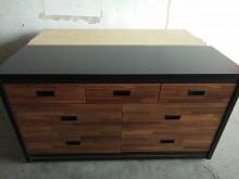 [全新] 全新傢俱工業風集層木雙色七斗櫃收納櫃全新