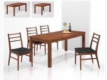 [全新] 杜蘭特伸縮實木餐桌餐桌全新