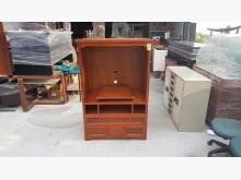 [9成新] 快樂福二手倉庫進口實木電視櫃電視櫃無破損有使用痕跡