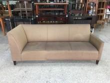[9成新] 香榭*時尚金沙色 麻布三人座沙發雙人沙發無破損有使用痕跡