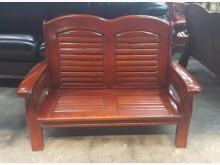 [8成新] A629EJJ 實木雙人沙發木製沙發有輕微破損
