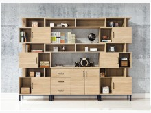 [全新] 維也納9.2尺功能書櫃30900書櫃/書架全新