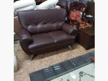 [9成新] 兩人座半牛皮沙發雙人沙發無破損有使用痕跡