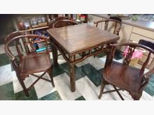 [9成新] 雞翅木泡茶桌+4椅其它古董家具無破損有使用痕跡