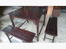 [8成新] 雞翅木泡茶桌+4椅其它古董家具有輕微破損