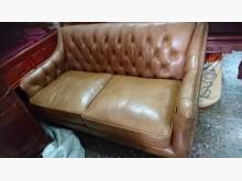 [95成新] 進口厚牛皮2人座沙發雙人沙發近乎全新