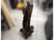 [8成新] A082311 觀音木雕收藏擺飾有輕微破損